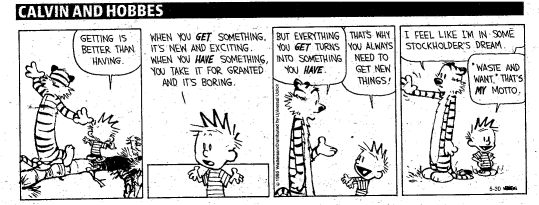 Calvin and Hobbes Getting